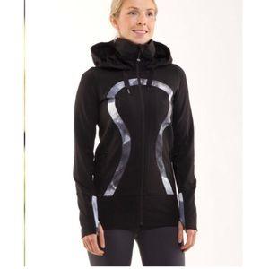 Lululemon Stride Jacket Black / White Coal Tinted